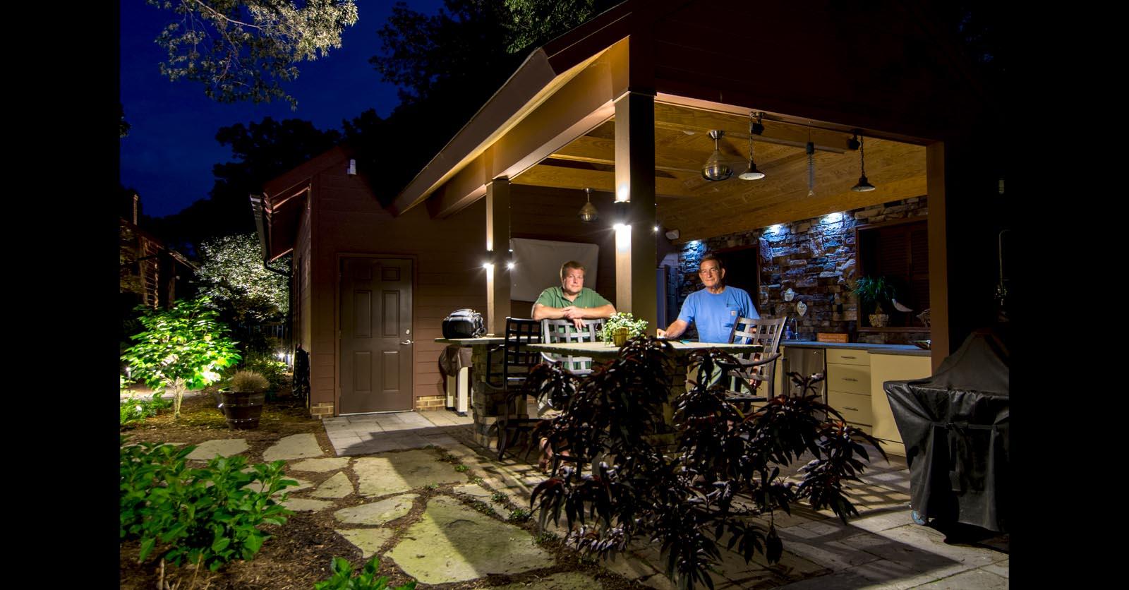 patio lighting chesapeake