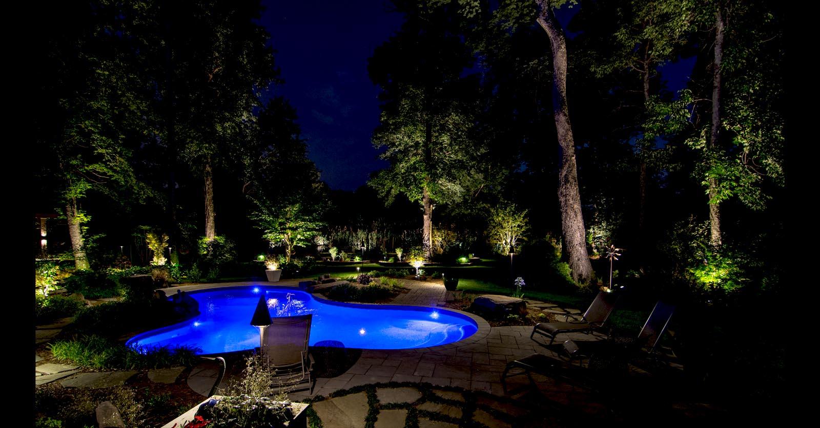 swimming pool lighting williamsburg va
